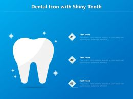 Dental Icon With Shiny Tooth