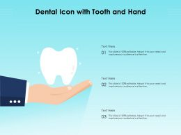 Dental Icon With Tooth And Hand