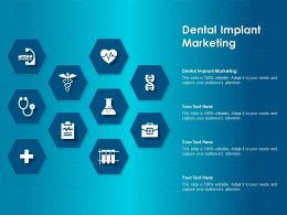 Dental Implant Marketing Ppt Powerpoint Presentation File Graphics Download