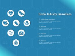 Dental Industry Innovations Ppt Powerpoint Presentation Gallery Objects