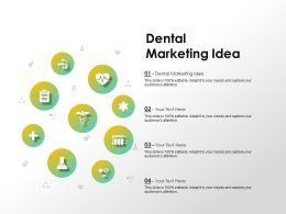 Dental Marketing Idea Ppt Powerpoint Presentation Icon Gridlines