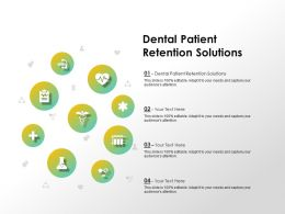 Dental Patient Retention Solutions Ppt Powerpoint Presentation Show Visuals