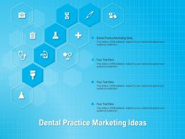 Dental Practice Marketing Ideas Ppt Powerpoint Presentation Layouts Show