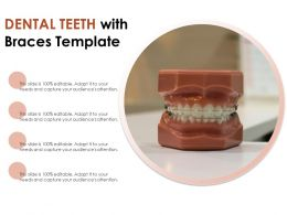 Dental Teeth With Braces Template