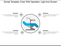 Dental Template Chair With Operation Light And Screen