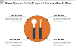 Dental Template Dentist Equipment Probe And Mouth Mirror