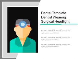 Dental Template Dentist Wearing Surgical Headlight