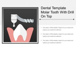 Dental Template Molar Tooth With Drill On Top