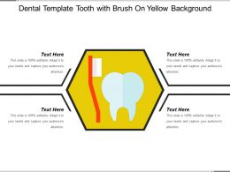 Dental Template Tooth With Brush On Yellow Background