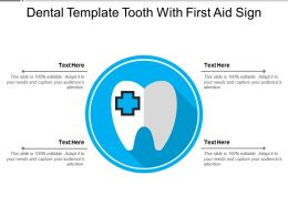 Dental Template Tooth With First Aid Sign
