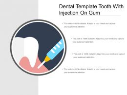 Dental Template Tooth With Injection On Gum