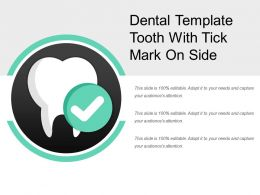 Dental Template Tooth With Tick Mark On Side