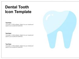 Dental Tooth Icon Template