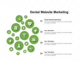 Dental Website Marketing Ppt Powerpoint Presentation Professional Introduction