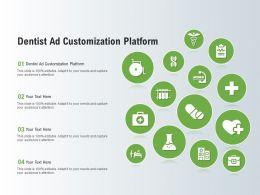 Dentist Ad Customization Platform Ppt Powerpoint Presentation Infographic Template Visuals