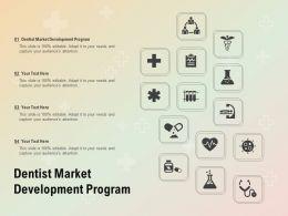 Dentist Market Development Program Ppt Powerpoint Presentation Inspiration Deck