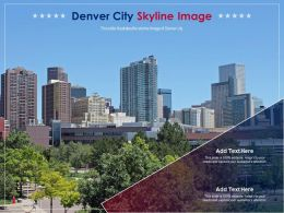 Denver City Skyline Image Powerpoint Presentation PPT Template