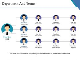 Department And Teams Ppt Portfolio