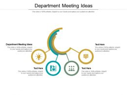 Department Meeting Ideas Ppt Powerpoint Presentation Icon Example Topics Cpb