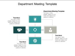 Department Meeting Template Ppt Powerpoint Presentation Outline Influencers Cpb