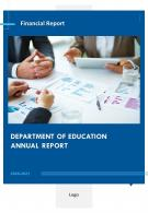 Department Of Education Annual Report PDF DOC PPT Document Report Template