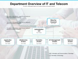 Department Overview Of IT And Telecom