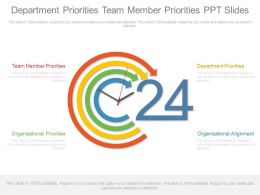 Department Priorities Team Member Priorities Ppt Slides
