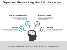 Department Renewal Integrated Risk Management Integrated Planning Reporting
