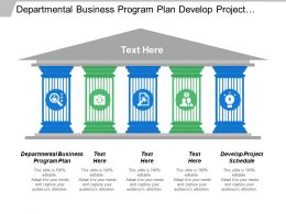 Departmental Business Program Plan Develop Project Schedule Financial Management