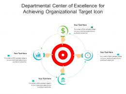 Departmental Center Of Excellence For Achieving Organizational Target Icon