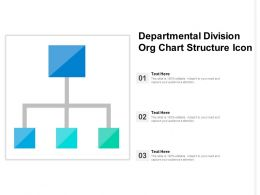 Departmental Division Org Chart Structure Icon