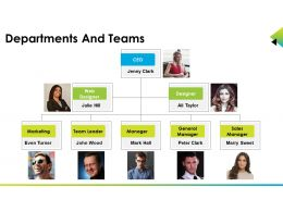 Departments And Teams Good Ppt Example