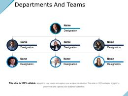 Departments And Teams Powerpoint Shapes