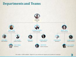 Departments And Teams Ppt Professional Infographic Template
