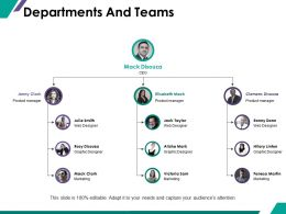 Departments And Teams Ppt Summary Aids