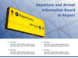 Departure And Arrival Information Board At Airport