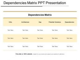 Dependencies Matrix Ppt Presentation