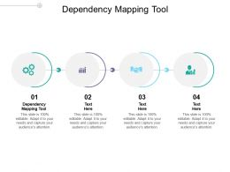 Dependency Mapping Tool Ppt Powerpoint Presentation Visual Aids Diagrams Cpb