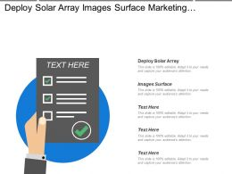 Deploy Solar Array Images Surface Marketing  Growth Strategic Vision