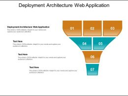 Deployment Architecture Web Application Ppt Powerpoint Presentation Summary Guidelines Cpb