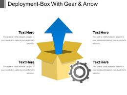 Deployment Box With Gear And Arrow