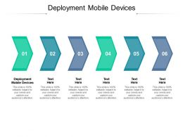 Deployment Mobile Devices Ppt Powerpoint Presentation Gallery Background Cpb