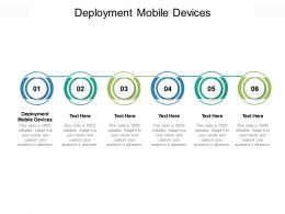 Deployment Mobile Devices Ppt Powerpoint Presentation Outline Maker Cpb