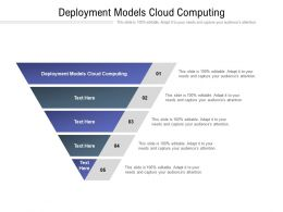 Deployment Models Cloud Computing Ppt Powerpoint Presentation File Templates Cpb