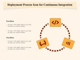 Deployment Process Icon For Continuous Integration