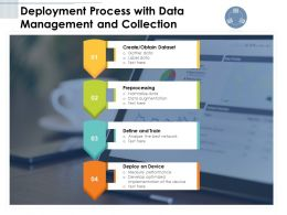Deployment Process With Data Management And Collection