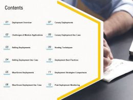 Deployment Strategies Contents Ppt Diagrams