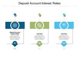 Deposit Account Interest Rates Ppt Powerpoint Presentation Gallery Skills Cpb