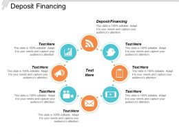 Deposit Financing Ppt Powerpoint Presentation Gallery Skills Cpb