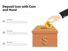 Deposit Icon With Coin And Hand